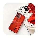Lujo chapado en oro galvanizado Glitter teléfono caso para iPhone 12 Pro Max 11Pro X XR XS MAX 8 7Plus espejo Flip suave cubierta Coque-rojo-para iPhone 11Pro