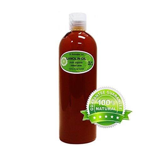 Lanolin Oil Pure USP Grade Skin LIP Moisturizing by Dr.Adorable 16 Oz / 1 Pint