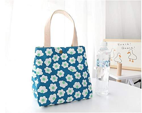 Bolsas de lona de algodón respetuosas con el medio ambiente para el almuerzo para las mujeres de gran capacidad para la compra de alimentos, picnic (color: impermeable)