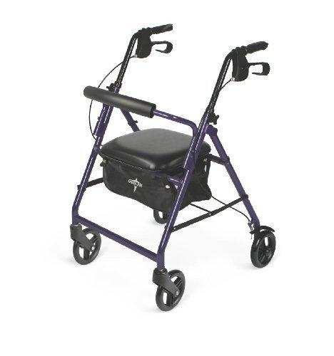 Medline Basic Aluminum Rollator, Purple...