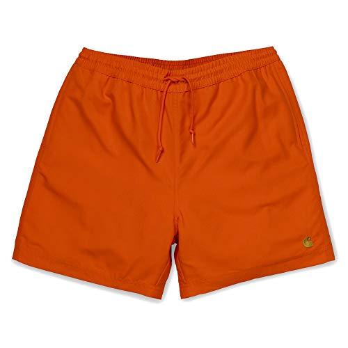 Carhartt Chase Swim Trunks I026235 Pepper Gold Badehose für Herren X-Small