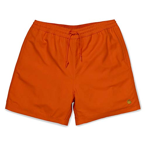 Carhartt Chase Swim Trunks I026235 Pepper Gold Badehose für Herren X-Small
