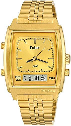 Pulsar Reloj Analógico-Digital para Hombre de Cuarzo con Correa en Acero Inoxidable 1