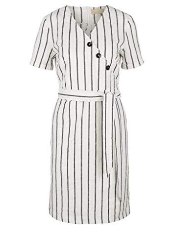 s.Oliver Damen Kleid kurz Off-White Stripe 36