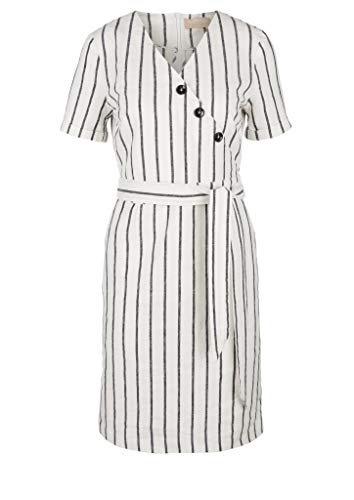 s.Oliver Damen Kleid kurz Off-White Stripe 38
