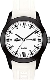 Lacoste Men's White Dial Silicone Band Watch [2010674], White, Analog Display