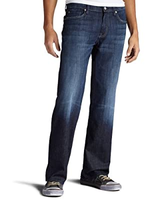 7 For All Mankind Men's Austyn Relaxed Straight-Leg Jean in Los Angeles Dark, Los Angeles Dark, 34x34 by 7 For All Mankind
