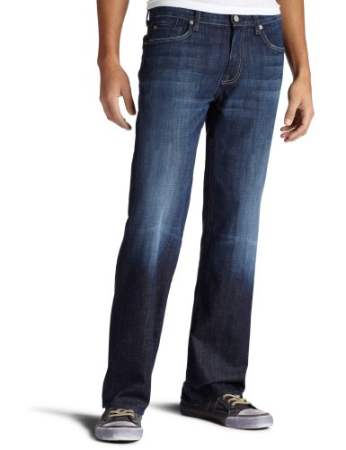 7 For All Mankind Men's Austyn Relaxed Straight-Leg Jean in Los Angeles Dark, Los Angeles Dark, 34x34