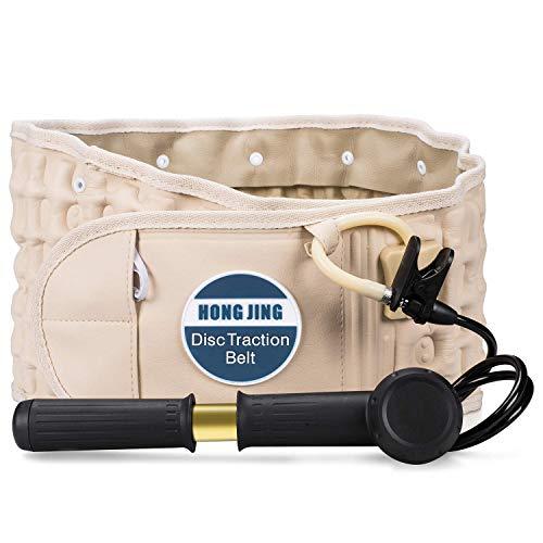 Support lombaire de la ceinture dorsale de décompression vertébrale pour le soulagement des maux de dos - Dispositif de traction du bas du dos HONGJING pour hommes femmes, taille unique