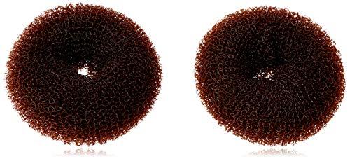 Denman Knotenring für Dutt, klein, braun, Durchmesser 6 cm, 2 Stück