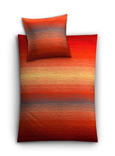 Kleine Wolke 6176455952 Bettwäsche Chicago, 135 x 200 cm, paprika