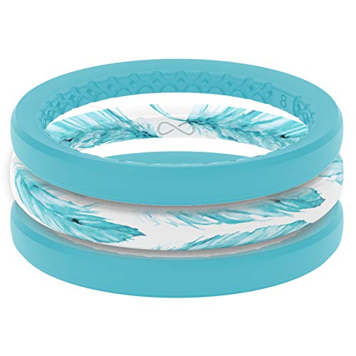 stacked silicone wedding rings