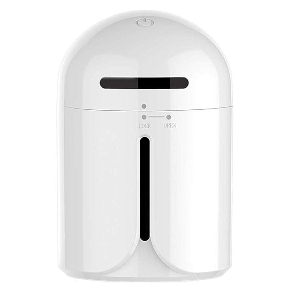 つま先シャンプー賄賂超音波加湿器、車のアロマディフューザー加湿器、気分を和らげるための健康的な肌の改善、睡眠の改善、清潔で清潔な新鮮な空気の浄化、LEDライトミュート (Color : 白)
