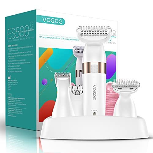 VOGOE 5 en 1 Afeitadora Mujer Eléctrica Rasuradora Femenina Depiladora Para Bikini Inalámbrico Recargable ES500