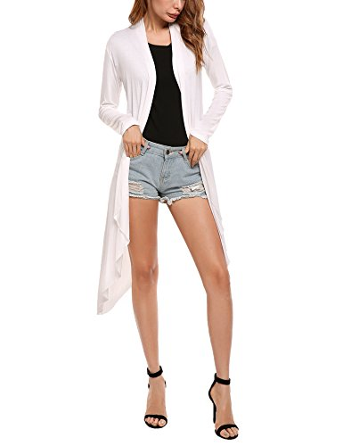 ✿【Material 】:This women duster cardigan are made of knitted polyester - very soft and comfy lightweight cardigan sweaters for women. The fabric is stretchy lightweight breathable, no wrinkles and comfortable. ✿【Features】:Featuring Open Front, Long Sl...