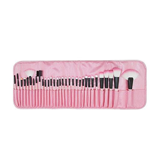 Maquillage Pinceau Ensemble, Professionnel 32 Pinceaux De Maquillage Poudre Fond De Teint Poudre De Sourcils Eyeliner Blush Correcteur Kabuki Pinceau avec Sac en PU,Pink
