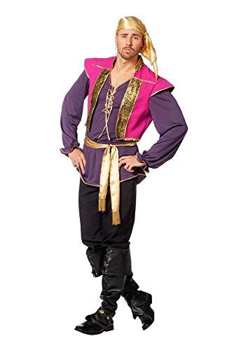 Zigeuner Kostüm Herrenkostüme Herren Karneval Fasching Hemd Bandana Gürtel Bunt, Gr. 52