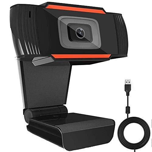 HOTSO Webcam 720P con micrófono, PC portátil, portátil, USB 2.0, cámara web para videollamadas, estudios, conferencias, grabaciones, juegos y clases en línea