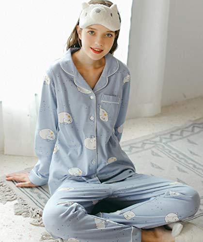 lxylllzs Pyjama Femme 100% Coton ,Pyjamas en Coton de Printemps et d'automne, vêtements d'allaitement Maternity Home Service-3_L,Pyjama Homme Nuit avec 2 Poches
