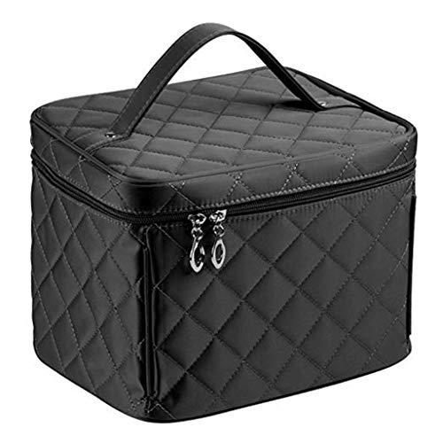 Designs Grand Make Up Bag, sacs et étuis étanches Toiletry Professional Case Black Big Voyage cosmétiques Cadeaux pour les femmes,Noir