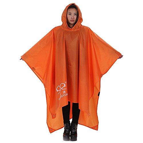 XUE Wasserdicht Regen Poncho Multifunktionales Regenjacken Regenbekleidung 3-in-1 Regenmantel Regenschutz Regencape für Herren Damen für die Jagd Camping Trekking