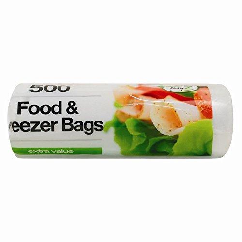 Lebensmittel Gefrierschrank Große, starke wiederverwendbar Fresh Lunchpaket auf Rolle verpackt Extra große Kühlschrank Einfrieren Allen Lebensmitteln Typ verwendet Standard Stärke [500Stück, 250]