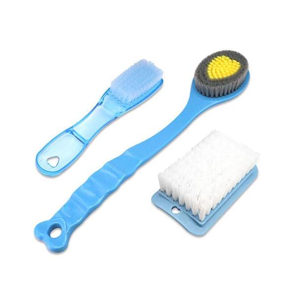 QiCheng&LYS – Cepillo de ducha de mano, con mango largo, suave y cómodo, para masaje o exfoliación de piel seca (2…