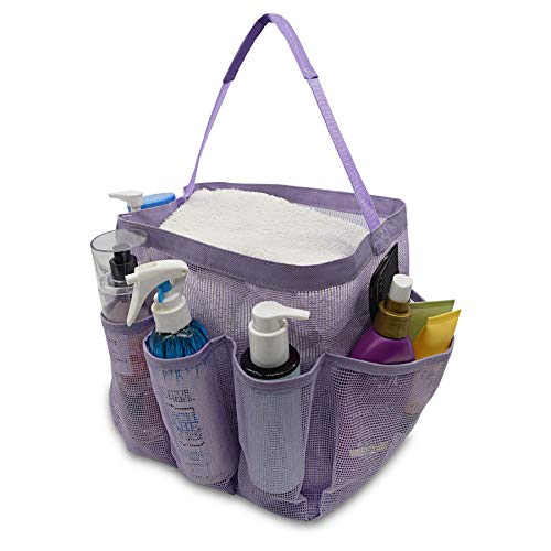 Mesh Shower Caddy Tote, Toiletry Organizer With 8 Compartments, Bathroom...