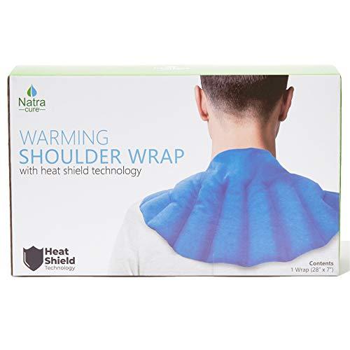 NatraCure Wärmendes Schulter Heizkissen mit Hitzeschild Technologie (Mikrowellen Wärmepackung zur Schmerzlinderung)