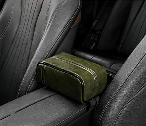 SHUANGJ Boîte de Tissu de Voiture, boîte de tiroir, boîte créatrice d'accoudoir, boîte de Tissu arrière de Chaise, Fournitures intérieures Haut de Gamme de Voiture Green