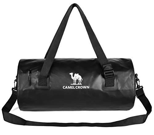CAMEL CROWN Borsa Sportiva Borsone da Viaggio Taglia Unica Unisex Adulto Duffel Bag per Gym Fitness Piscina Yoga 26L 53x25x25 CM