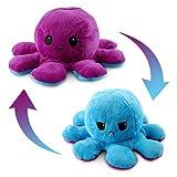 Esportic Peluche de Pulpo Reversible,Octopus Reversible, Bonitos Juguetes de Peluche muñeco de Doble Cara el Pulpo Reversible Original de Felpa Bonitos Juguetes de Peluche Niños (8)