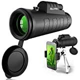 Newseego 50x60 Monocular Telescope, High Power HD Monocular for Adults with Phone Holder Clip & Tripod for...