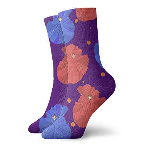 LLeaf Calcetines deportivos para hombres Calcetines deportivos de poliéster Calcetines de baile para correr Calcetines de entrenador para hombres y mujeres