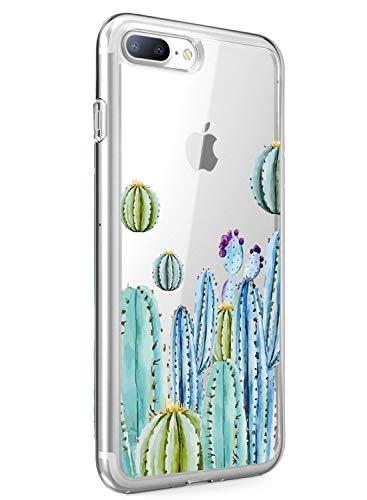 Suhctup - Carcasa compatible con iPhone 6/iPhone 6S, antigolpes, funda transparente con dibujos, ultra ligera y transparente, de silicona suave, para iPhone 6 [estampado de labios]