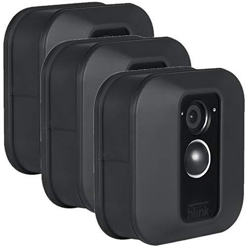 Funda Protectora de Silicona Compatible con cámara de Seguridad Blink XT y XT2 de Exterior – Decora y camufla tu cámara de vigilancia (Pack de 3, Negro)