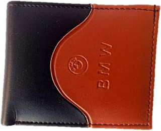 Khem Collection Black and Brown Artificial Leather Wallet