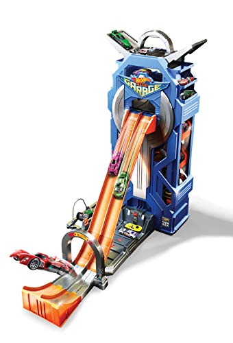 Hot Wheels GWT34 - City Power Parkgarage und Parkhaus für Kinder mit Rennbahn,...
