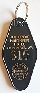 The Great Northern Hotel Room # 315 Twin Peaks Inspired Key Tag Black/Gold