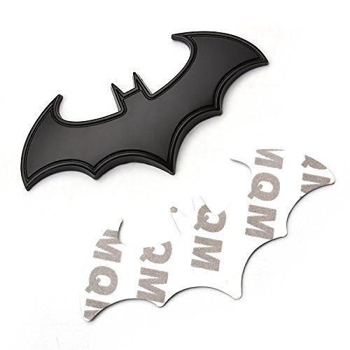 SKS Distribution® 3D schwarz Edelstahl Fledermaus Batman Hohe Qualität Auto Emblem Aufkleber Badge.