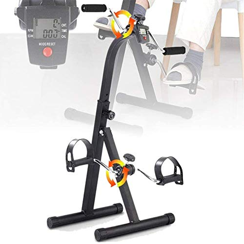 Bicicleta de brazos y piernas con doble pedal, entrenamiento de bicicleta de rehabilitación de piernas con monitor LCD,bicicleta de ejercicios de entrenamiento de extremidades superiores e inferiore