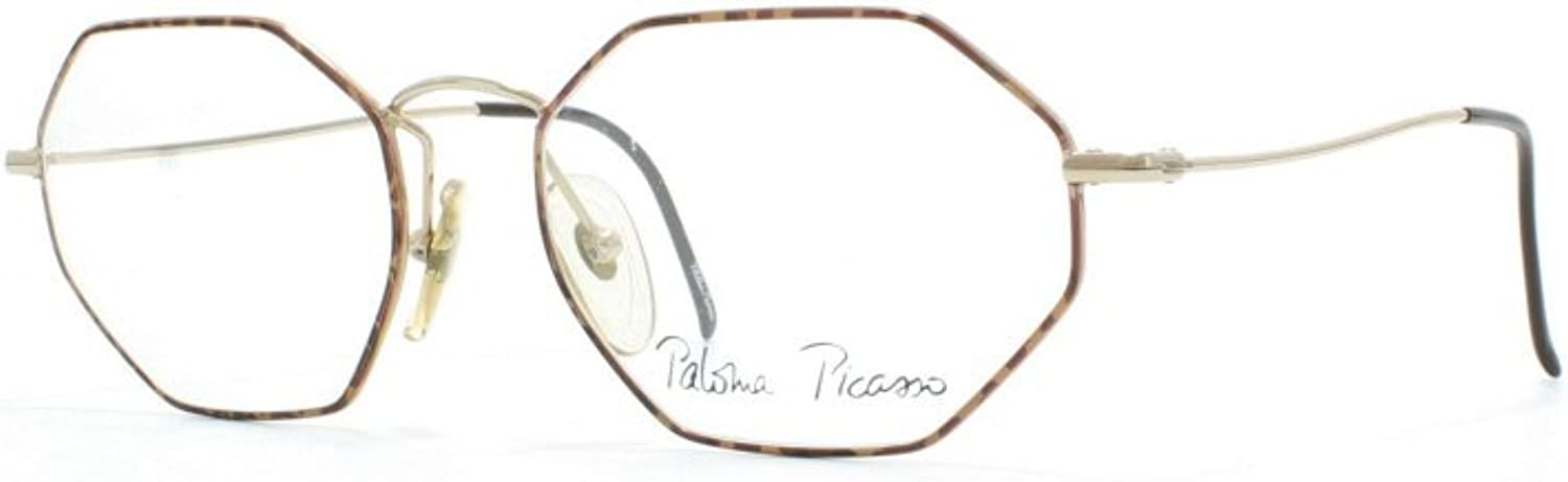 Paloma Picasso 3763 51 gold and Brown Authentic Women Vintage Eyeglasses Frame