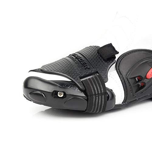 dewdropy Protector Zapato Moto, Almohadilla De Cambio De La Motocicleta Zapato Cubierta De La Bota Accesorios De La Palanca De Cambios Protectora Antideslizante