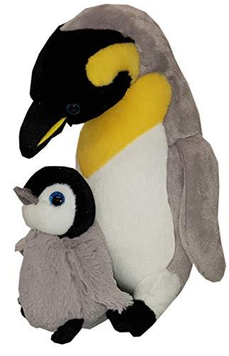 Heunec 501270 MISANIMO Pinguin mit Baby, mehrfarbig