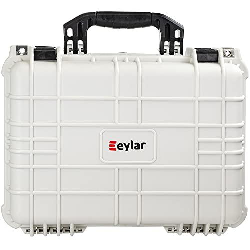 Eylar Standard 16' Gear, Equipment, Hard Camera Case Waterproof with Foam TSA Standards (White)