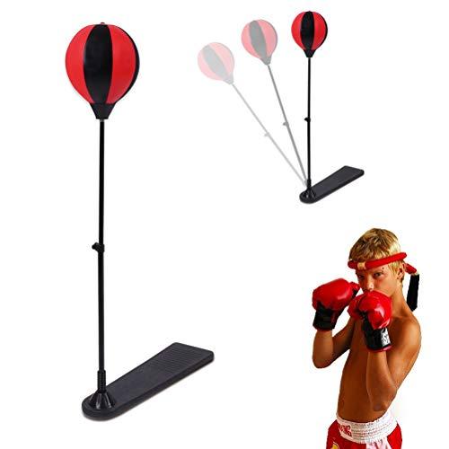 BYJIN Boxball, Punchingball Boxen Set mit Boxhandschuhen Pumpe für Kinder Jugend höhenverstellbar von 70 bis 105 cm, Tumbler Spielzeug