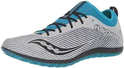 Saucony Men's Havok XC2 Flat Track and Field Shoe, Grey/Blue, 7 Medium US