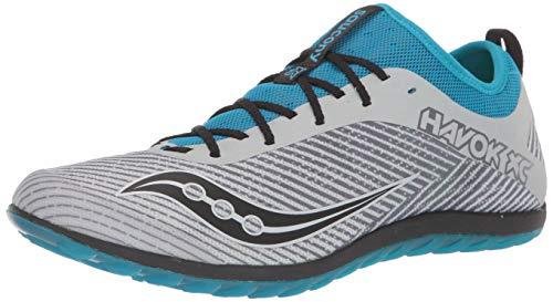 Saucony Men's Havok XC2 Flat Track and Field Shoe, Grey/Blue, 7.5 Medium US