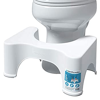 Squatty Potty The Original Bathroom Toilet Stool Height White 9 Inch  Pack of 1