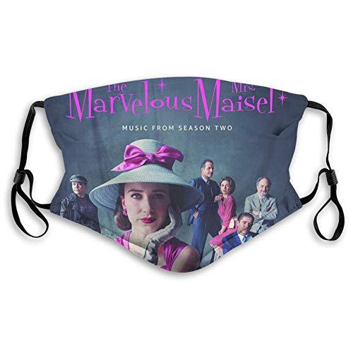The Mar_velous Mrs. Ma_isel Komfortable atmungsaktive Luftverschmutzung Face Co_ver Mouth Co_ver Gesichtsschutz Gr. Small, Schwarz